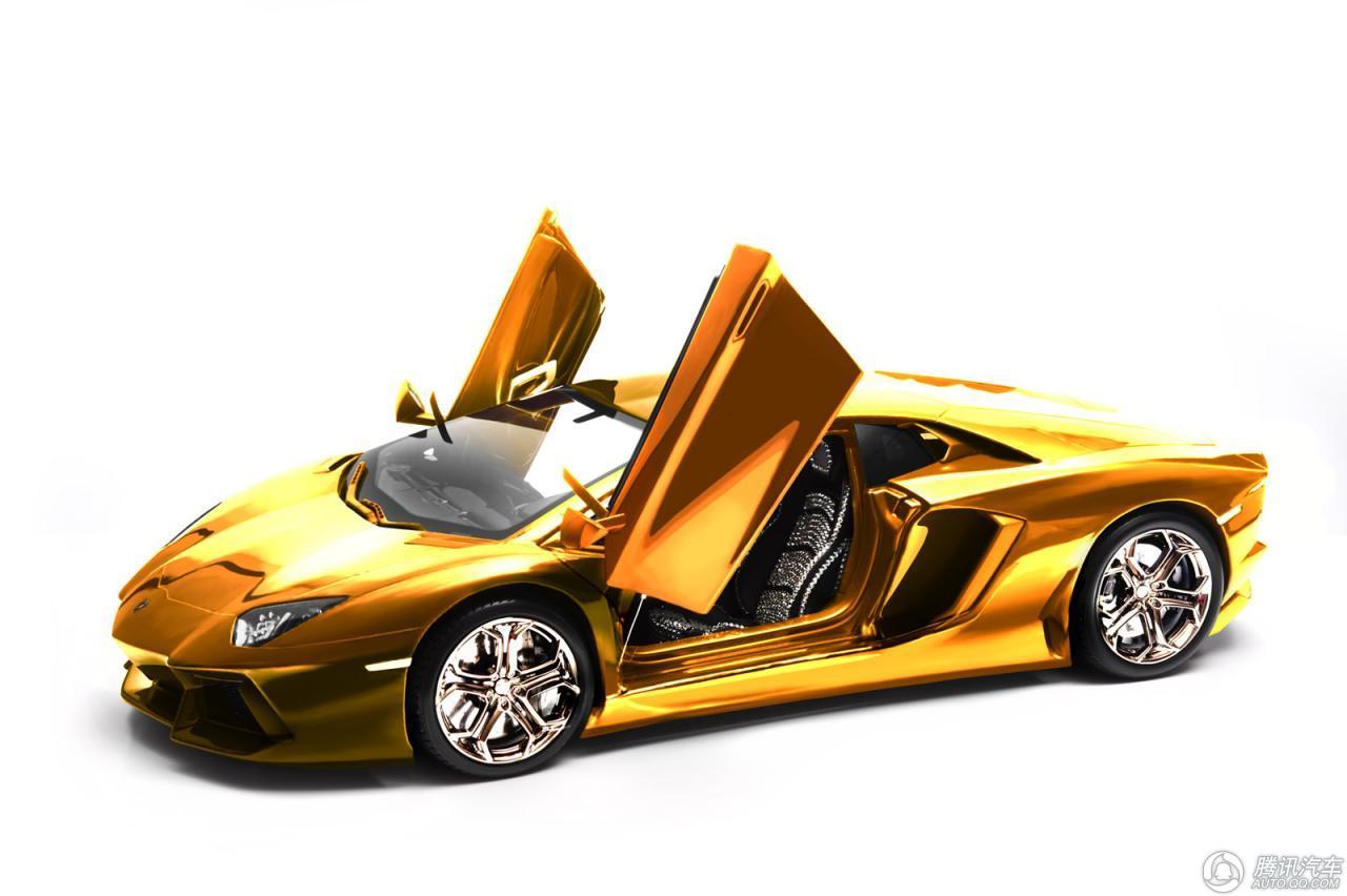 黄金兰博基尼车模将拍卖 部分所得捐献慈善机构高清图片