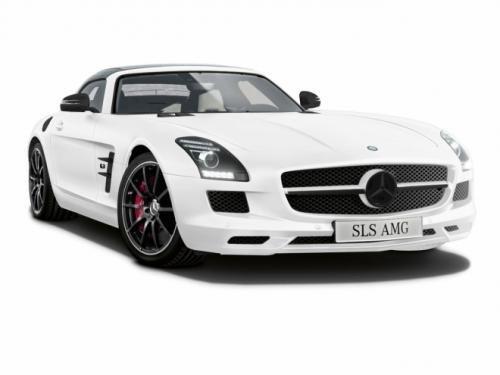 梅赛德斯 奔驰sls amg matte白色版超跑高清图片