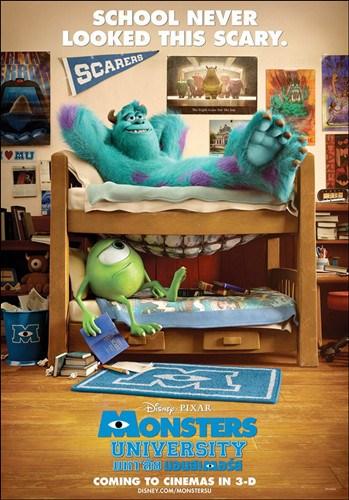 工作室第14部动画长片《怪兽大学》首度曝光两款预告海报.一款预图片
