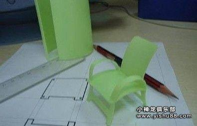 塑料瓶手工制作小椅子