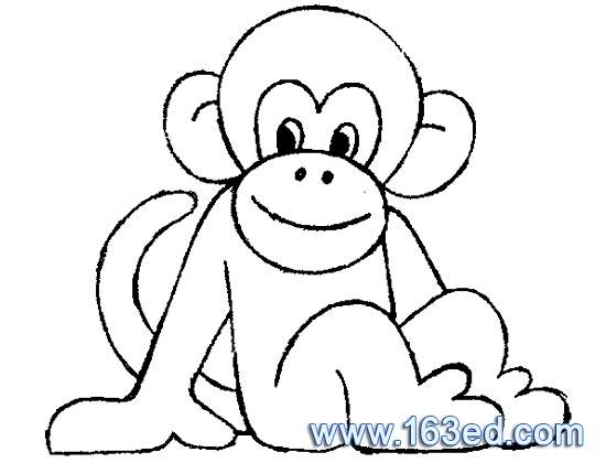 桌面小猴子头像简笔画 小动物头饰简笔画 小白兔头像
