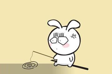 童话故事 小白兔钓鱼