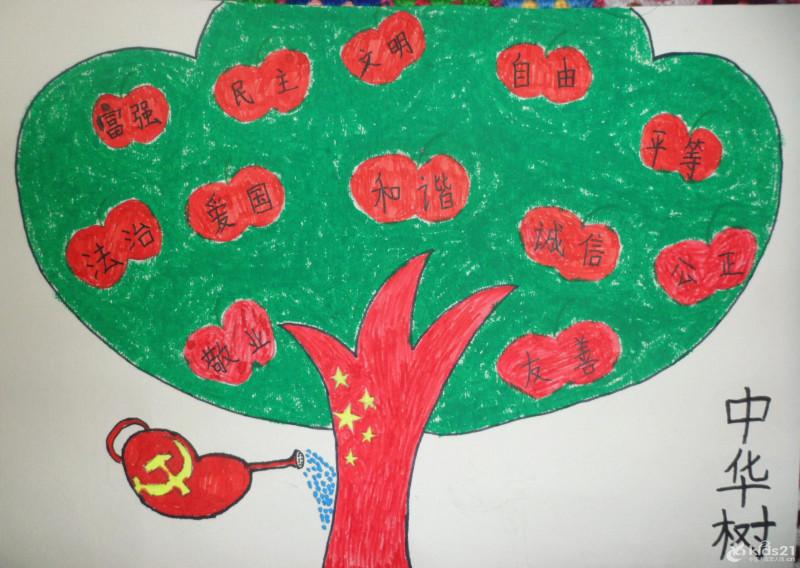 社会主义核心价值观画画小学作品平等_画画大全图片
