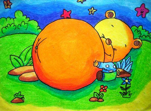 儿童画秋天 丰收的季节