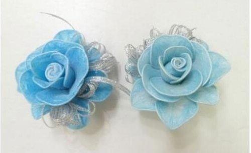 旧物改造:塑料纸袋制作精美小花图片