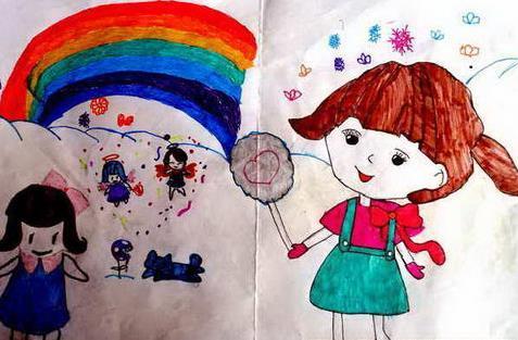 夏天儿童画绘画作品-山谷里的夏天-少儿频道-兰州网图片