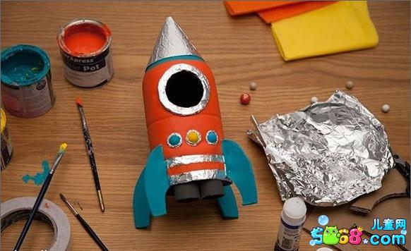 手工制作玩具 塑料瓶变火箭