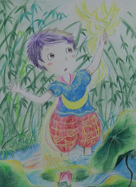 夏天主题的儿童画:仲夏夜之梦-少儿频道-兰州网