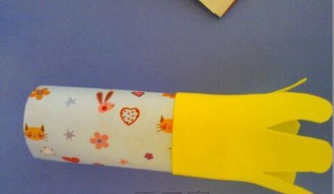 创意手工制作图解:黄色的小鱼
