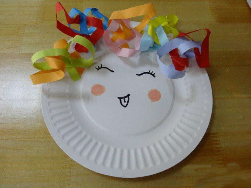 儿童手工制作图解:蛋糕盘子做的人物