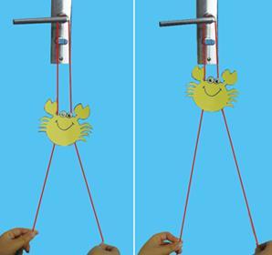 儿童创意科技小制作:向上爬的小螃蟹玩具