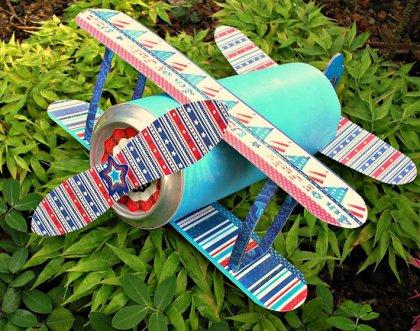 易拉罐手工制作:儿童飞机模型