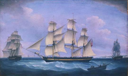 托马斯·惠特科姆(thomas whitcombe),英国画家,以善画海上战争
