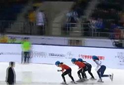 第28届大冬会――中国获短道速滑女子500米金银牌