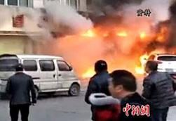 浙江天台火灾:90后小伙一拳打出逃生通道