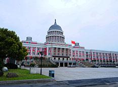 浙江一学校行政楼酷似美国国会大厦