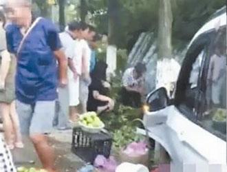 """浙江:杜桥一""""实习标""""宝马车撞死两人?谣言"""