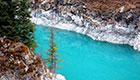 新疆天山深处神奇的高原湖