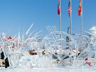 第七届中国哈尔滨国际组合冰冰雕比赛落幕