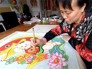 手绘年画传承人黄颖的坚持和创新