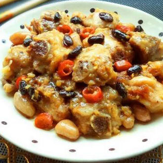 蒜茸豆豉蒸排骨