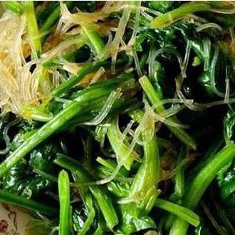 蒜泥拌粉丝菠菜