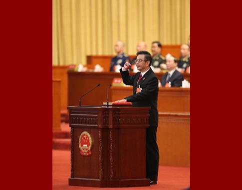 最高人民法院院长周强进行宪法宣誓