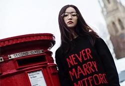 倪妮突然更新微博 穿毛衣逛伦敦