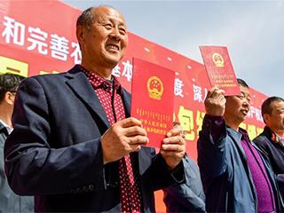 """内蒙古:首批农民拿到承包地""""身份证"""""""