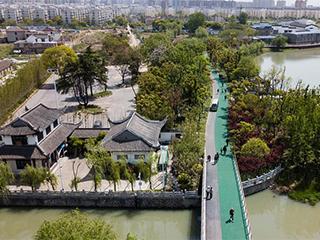 江苏扬州:昔日杂乱城中村 如今生态公园地