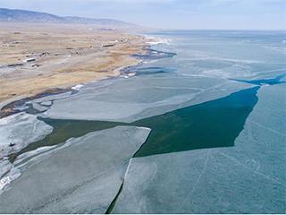 青海湖枯水期面积达18年来最大值