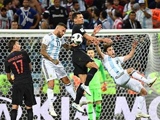 2018年世界杯D组:克罗地亚队击败阿根廷队