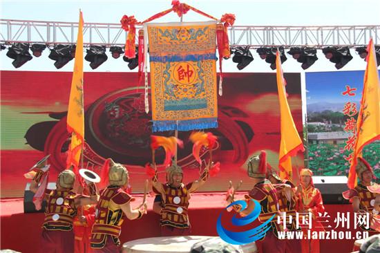 """白银区第二届荷花美食暨""""六朵金花""""乡村文化旅游节开幕"""