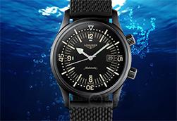 浪琴表经典复刻系列传奇潜水员腕表