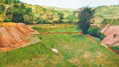 油画作品:那马的风景