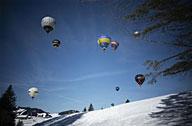 瑞士:放飞热气球