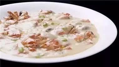 白汁薯泥烩花蟹