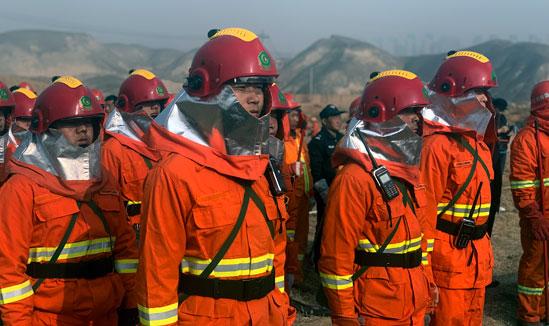 兰州市两山系统开展森林火灾扑救演练