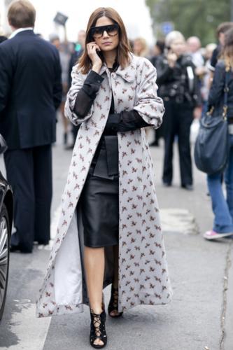 巴黎时装周街拍各路美女 时装周 中国兰州网