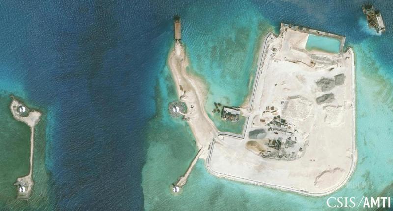 南沙岛礁建设进度披露完整视频图片-the